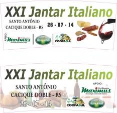 XXI Jantar Italiano Adesivos - Fernando Risson